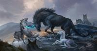 Единороги. Иллюстрация Сандары Тан