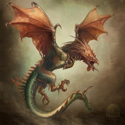 Кокатрис. Иллюстрация Юлии Алексеевой (CG-Warrior)