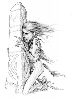 Вампир. Рисунок Стивена Плеера
