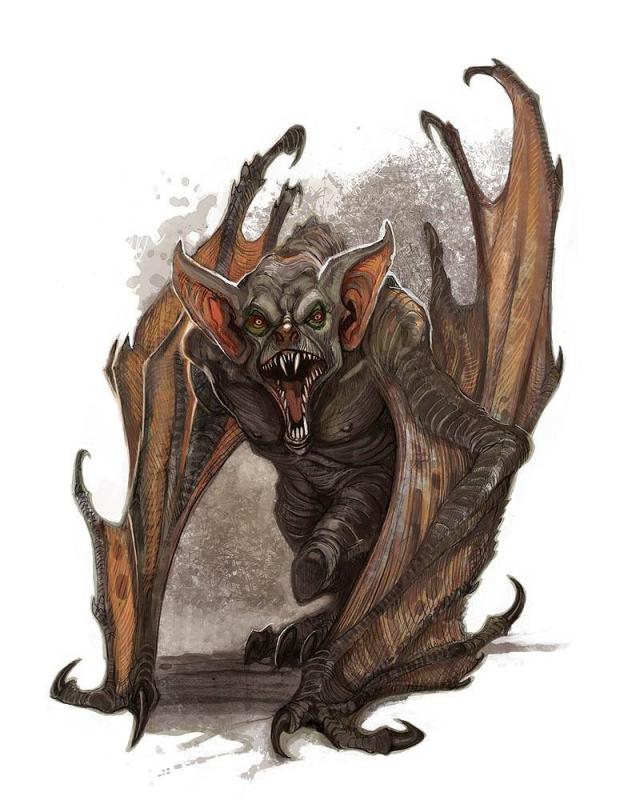 Вампир. Иллюстрация Уильяма О'Коннора   Bestiary.us
