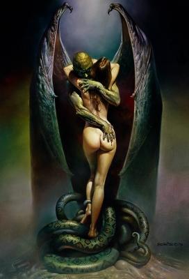 Поцелуй вампира. Картина Бориса Валледжо (1979)