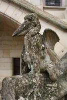 Статуя василиска в пикардийском замке Пьерфон