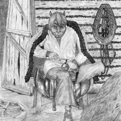 Вазила. Рисунок Валентина Дельвесто