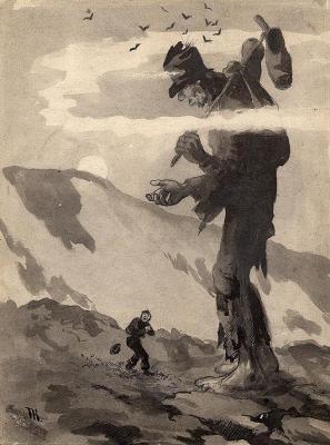 """Иллюстрация Теодора Киттельсена к сказке """"Скрипач Веслефрик"""" (Veslefrikk med fela), 1886"""