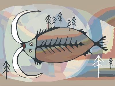 Виткась. Рисунок Владимира Наговицына