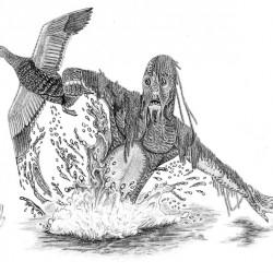 Водяной. Рисунок Валентина Дельвесто