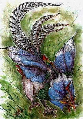 Птица Байе. Иллюстрация Кейтара Вольфура