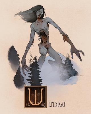 "Вендиго. Иллюстрация Натана Андерсона (Nathan J. Anderson, ""Deimos-Remus"")"
