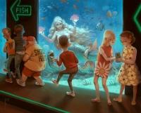 Однажды в аквариуме. Иллюстрация Вальдемара Казака