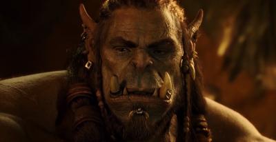 """Тоби Кеббелл в роли вождя орков Дуротана. Кадр из фильма """"Warcraft"""" (2016)"""