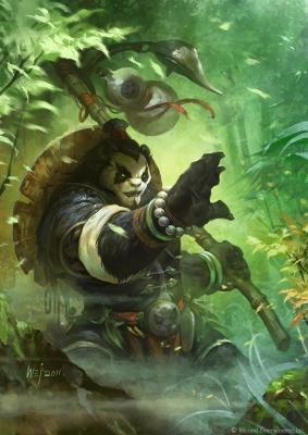 """Пандарен. Иллюстрация Вея Ванга к игре """"World of Warcraft"""""""