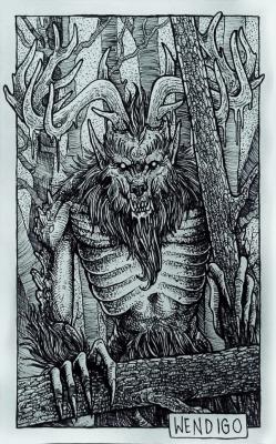 Вендиго. Иллюстрация Дарека Кшака (DK13Design)