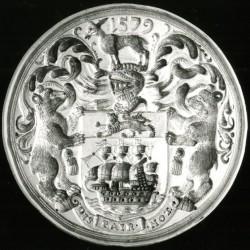 Аллокамелус на печати Восточной (Эстляндской) английской торговой компании