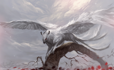 "Winged Deity. Иллюстрация Паулины Линяама (Pauliina ""Kipine"" Linjama)"