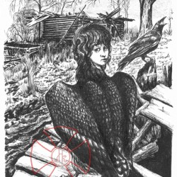 Птица Гамаюн. Иллюстрация Леонида Константинова