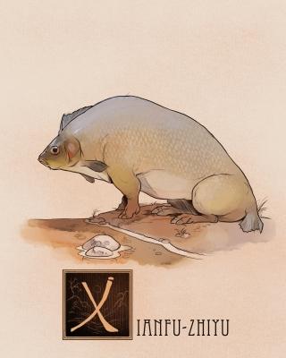 "Рыба Сианьфу (Xianfu-Zhiyu). Иллюстрация Натана Андерсона (Nathan J. Anderson, ""Deimos-Remus"")"