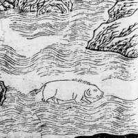 """Рыба Сианьфу (Xianfu-Zhiyu). Иллюстрация из """"Каталога гор и морей"""""""