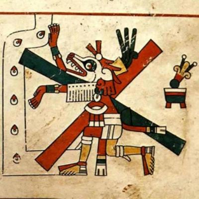 Шолотль. Изображение из кодекса Феджервайер Мэйер