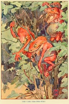 """Яра-ма-йха-ху. Иллюстрация Элис Вудвард к книге Уильяма Рамсея Смита """"Мифы и легенды австралийских аборигенов"""" (1932)"""