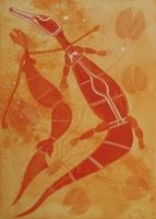 Йок-йок и крокодил. Рисунок Гэбриэла Маралнгурра