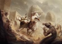 Защитники города Ардаш. Иллюстрация Йигита Короглу