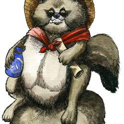Тануки. Иллюстрация Ричарда Свенссона