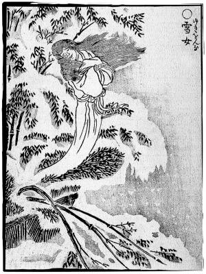 Юки-онна. Иллюстрация Ториямы Сэкиэна