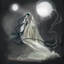 Юки-онна — Лунная Принцесса. Современная иллюстрация