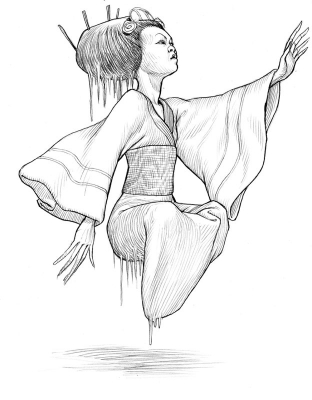 Юки-онна. Рисунок Стивена Плеера