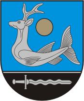 Перитон на гербе города Зарасай (Литва) образца 1996 года