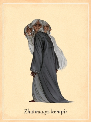 Жалмауыз кемпир. Иллюстрация Самал Кантар
