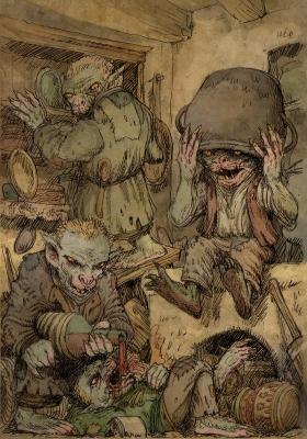 Злыдни (Złydnie). Иллюстрация Павла Зыха (Paweł Zych)