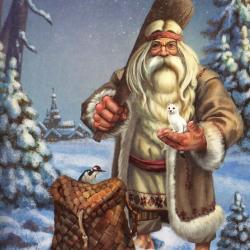 Зюзя, белорусский дух зимы и мороза. Иллюстрация Анастасии Кьюсак